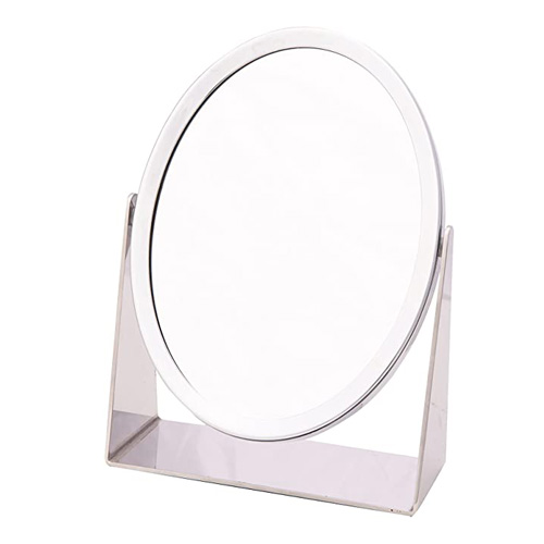 Danielle Chrome Oval Vanity Mirror - D816 - True and 5x