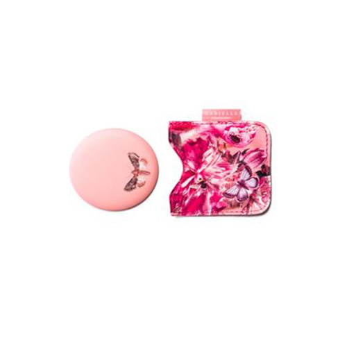 Danielle Compact Mirror in Pouch - Pink Butterfly