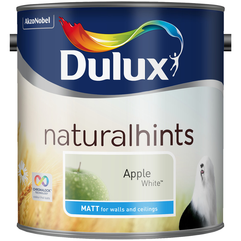 Dulux Matt Apple White 2.5lt
