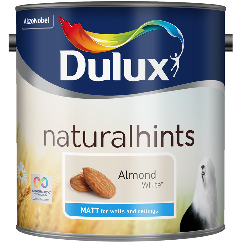 Dulux Matt Almond White 2.5lt