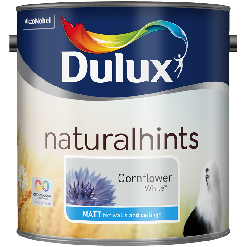 Dulux Matt Cornflower White 2.5lt - Click Image to Close
