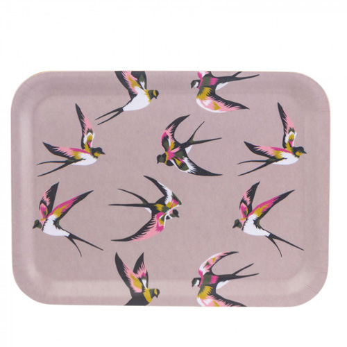 Navigate Summerhouse Willow Rectangular Tray Swallows