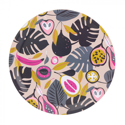 Navigate Summerhouse Round Tray - Tropical Fruit 37cm Dia