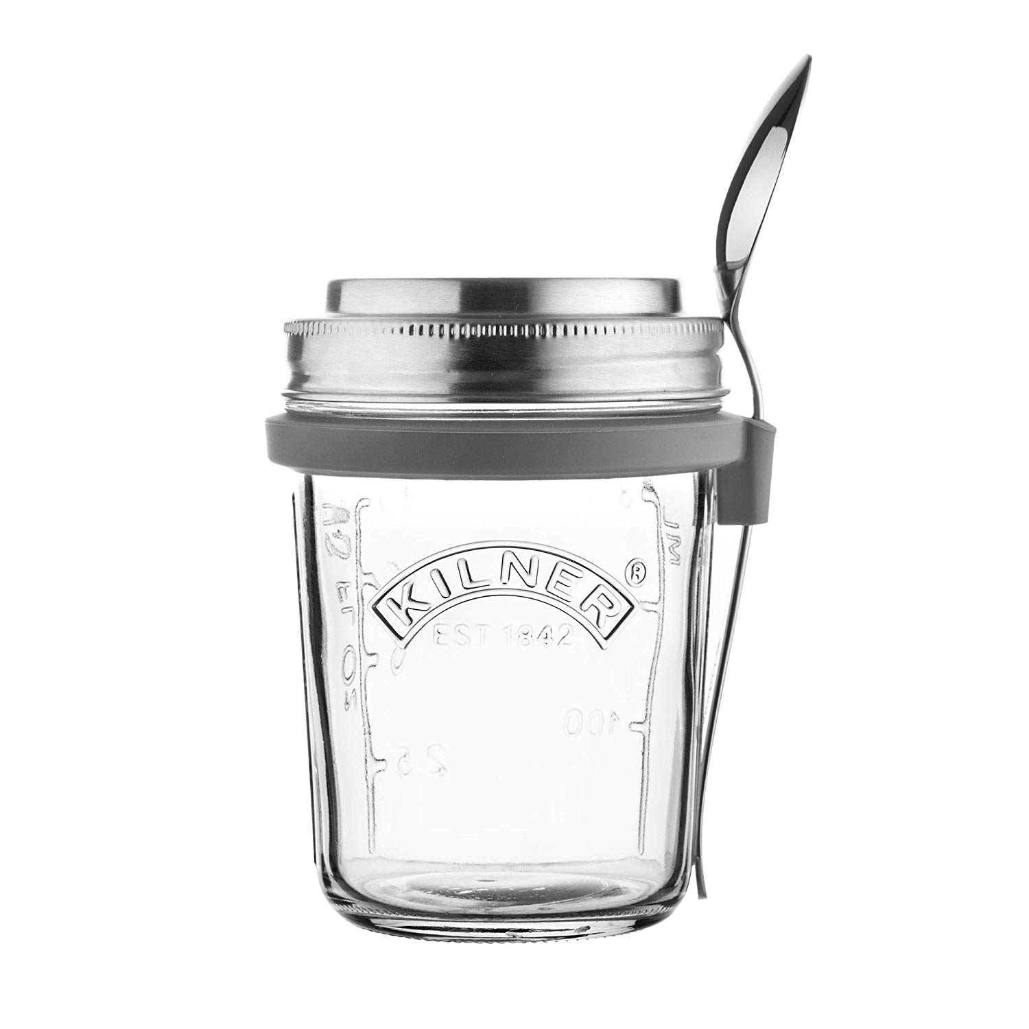 Kilner Glass Breakfast Jar with Screw Top Lid - 350ml