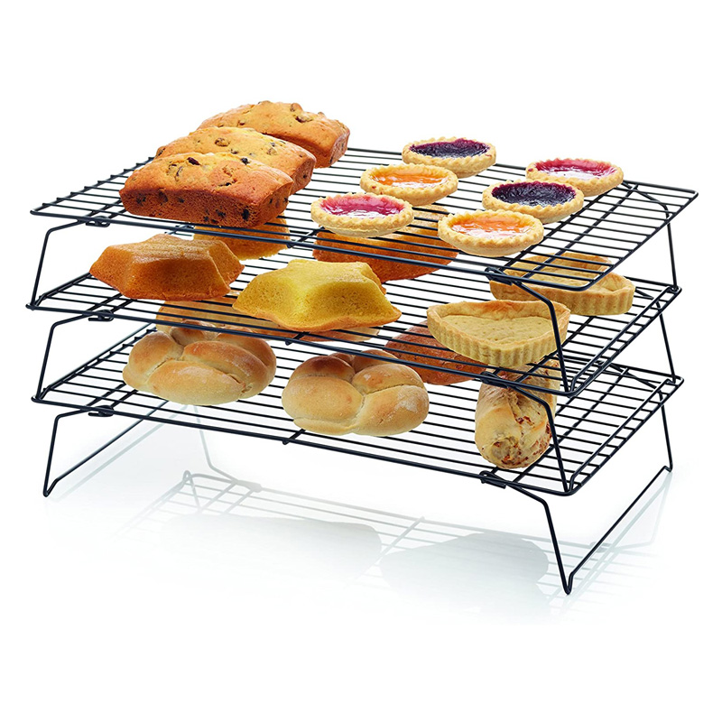 KitchenCraft Set of 3 Stackable Cooling Racks