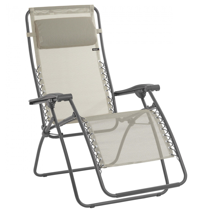 Lafuma RSX Recliner Garden Chair, Seigle (LFM2034) Ex Display