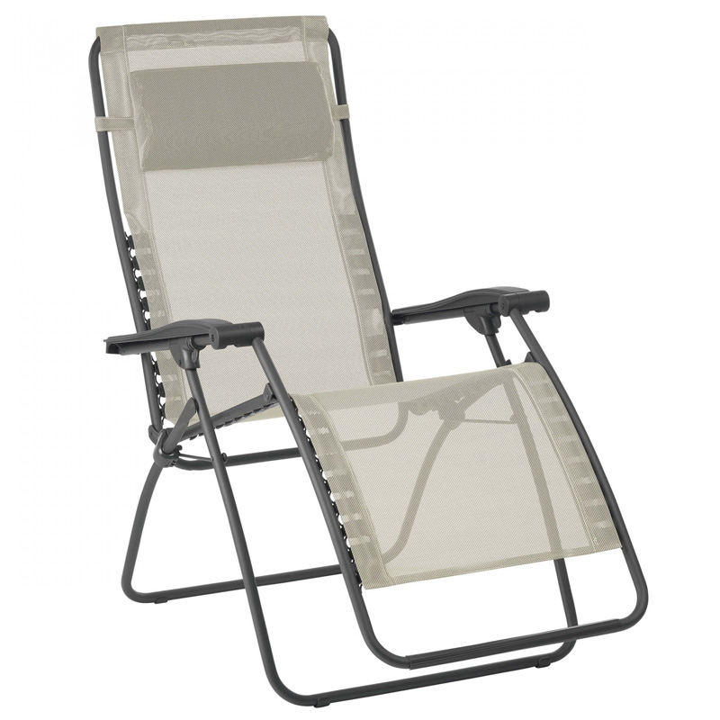Lafuma RSXA Clip Recliner Garden Chair, Seigle (LFM2035)Ex Display