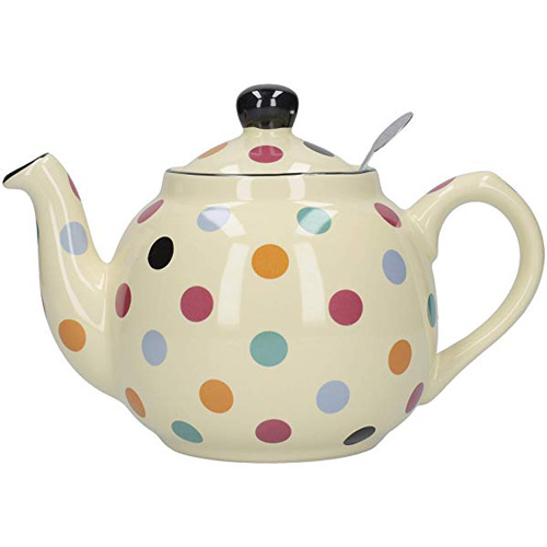 London Pottery 4 Cup Farmhouse Teapot with Filter - Multi Spots