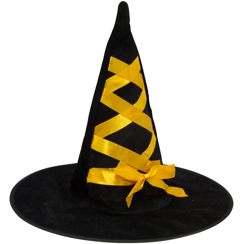 Witches Hat With Yellow Ribbon