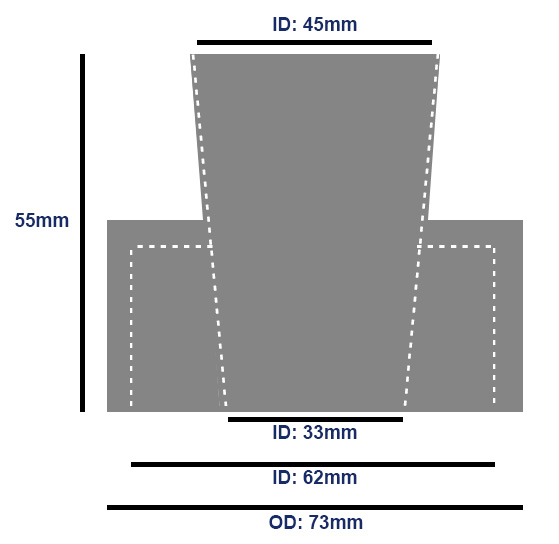 External Flush Pipe Cone Dimensions