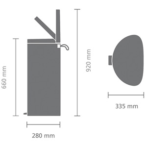 Matt Steel 40L Technical Specifications
