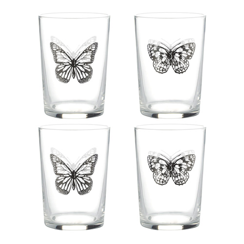 Ravenhead Glass Tumblers - Pack of 4 x 52cl Butterfly Tumblers