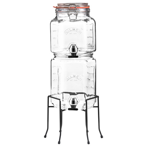 Kilner Stackable Jar Set with Dispensing Taps with Stand