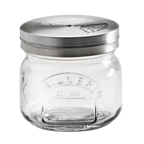 Kilner Glass Storage Jar with Shaker Lid - 250ml