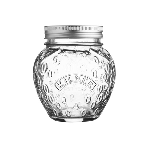 Kilner Fruit Preserve Jar With Screw Top Lid - 400ml Strawberry