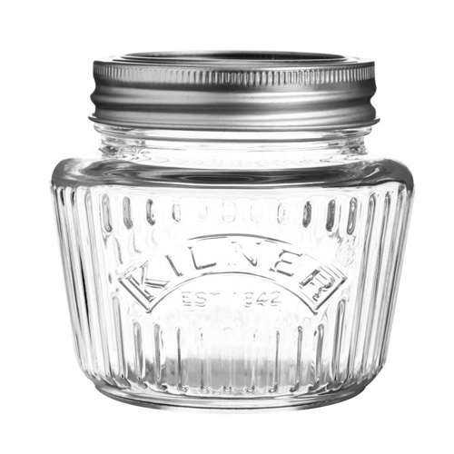 Kilner Glass Vintage Preserving Jar With Screw Top Lid - 0.25L