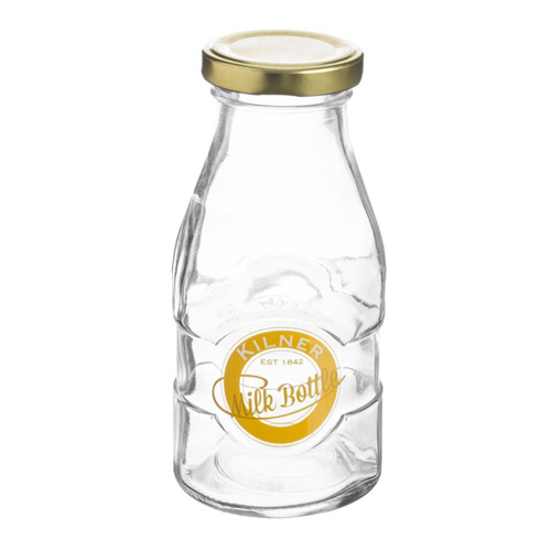 Kilner 1/3 Pint Milk Bottle - Vintage Style Glass Screw Top Bottle