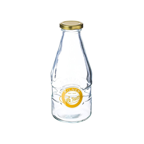 Kilner 1 Pint Milk Bottle - Vintage Style Glass Screw Top Bottle