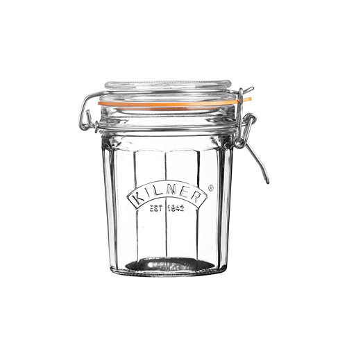 Kilner Glass Facetted Clip Top Jar - 0.45L