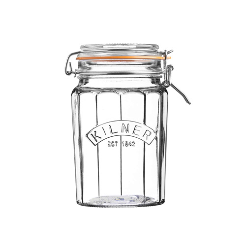 Kilner Glass Facetted Clip Top Jar - 0.95L