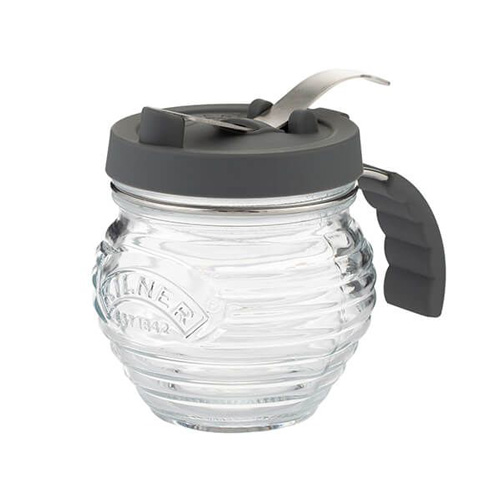 Kilner Glass Syrup Dispenser with Silicone Pouring Lid
