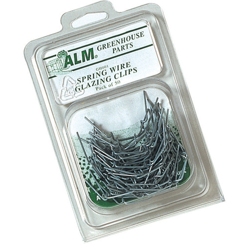 Greenhouse Spring Wire Glazing Clips - Pack of 50