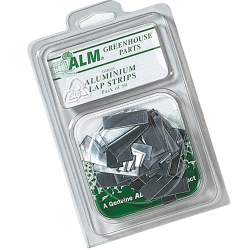 Greenhouse Aluminium Glazing Lap Strips - Pack of 50