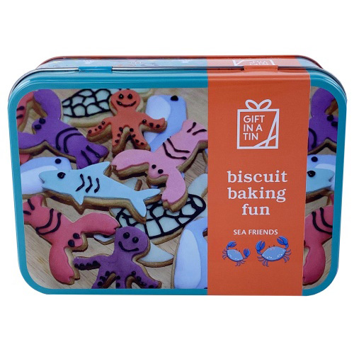 Apples to Pears Gift In A Tin - Biscuit Baking Fun, Sea Friends