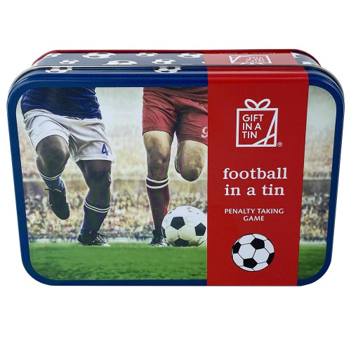 Apples to Pears Gift In A Tin - Football in a Tin - Penalty Taking