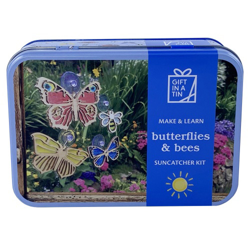 Apples to Pears Gift In A Tin - Butterflies and Bees Suncatcher kit