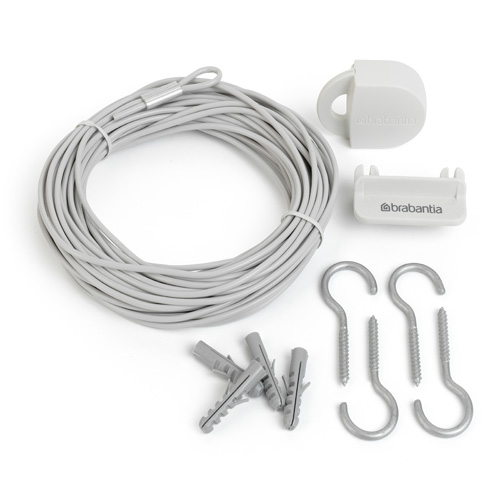 Brabantia Clothes Line Kit - Small Space Washing Line - 12m Kit