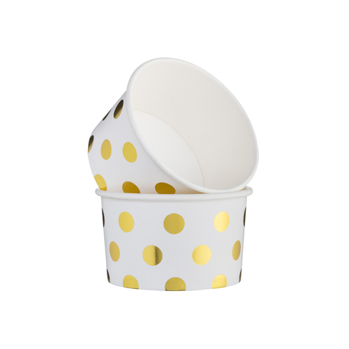 Mason Cash Baking Cups - Set of 12 Metallic Gold Dots