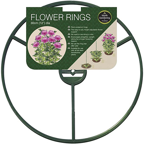 Garland Flower Ring Plant Support - 12 inch - Pack of 2