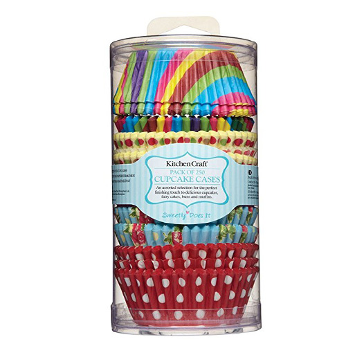 Kitchencraft Cupcake Cases, Pack of 250 Assorted Bright Colours