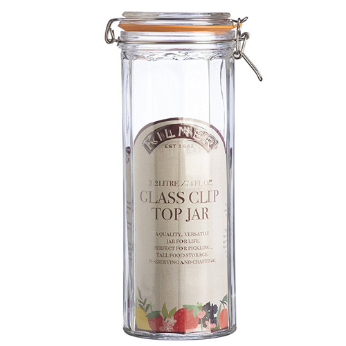Kilner Glass Tall Jar With Clip-Top Lid - 2.2 Litre