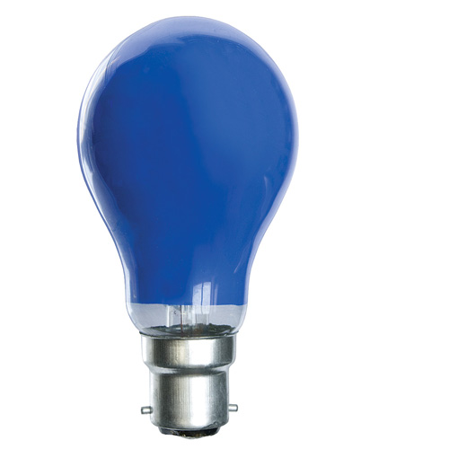 25W 240V BC Coloured Light Bulb - Blue