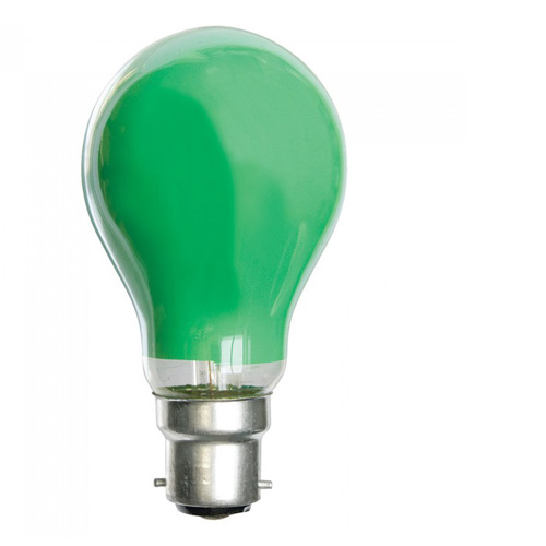 25W 240V BC Coloured Light Bulb - Green