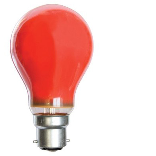 25W 240V BC Coloured Light Bulb - Red