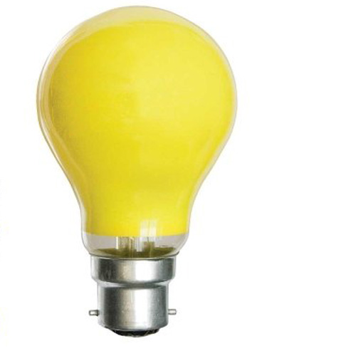 25W 240V BC Coloured Light Bulb - Yellow