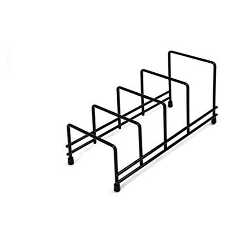 Delfinware Plate Storage Rack- 2625BK Black