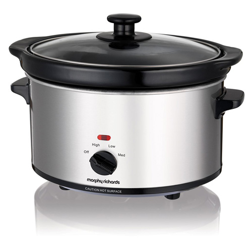 Morphy Richards Oval Slow Cooker 2.5Litre Brushed SS