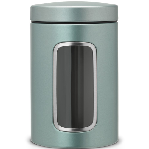 Brabantia Storage Canister 1.4L - Metalic Mint with Window