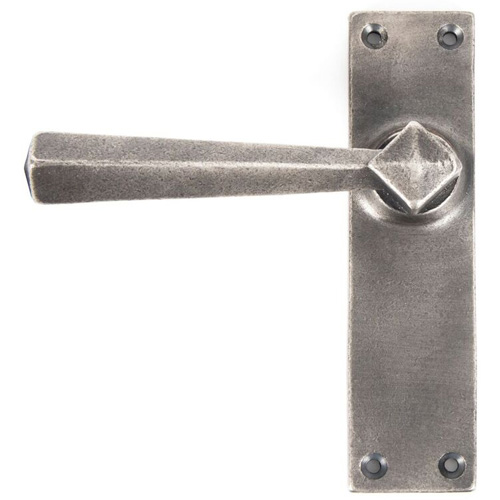 Anvil Straight Lever Latch Set - Antique Pewter 73116