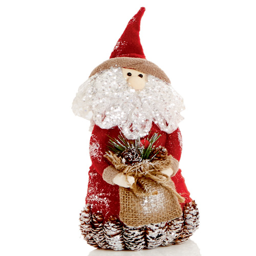 Premier Santa Decoration with Sack- 28cm Tall