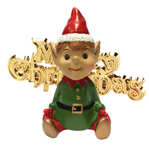 Christmas Cake Decoration - Santa's Elf Cake Topper