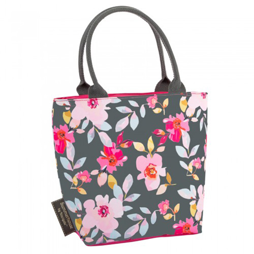 Navigate Summerhouse Insulated Lunch Tote - Gardenia Floral Grey