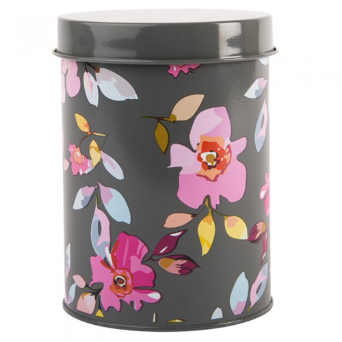 Navigate Summerhouse Storage Tin - Gardenia Floral Grey