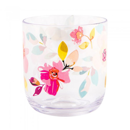 Navigate Summerhouse Polycarbonate Drinks Tumbler - Gardenia Floral