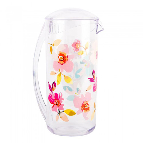 Navigate Summerhouse Polycarbonate Drinks Pitcher - Gardenia Floral