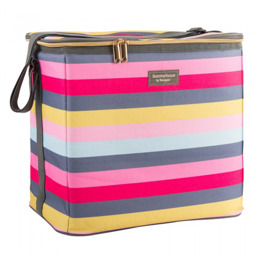Navigate Summerhouse Insulated Family Cool Bag - Gardenia Stripe